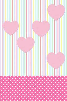 Hearts and stripes Heart Wallpaper, Trendy Wallpaper, Cute Wallpaper Backgrounds, Wallpaper Iphone Cute, Love Wallpaper, Cute Wallpapers, Valentine Wallpaper, Polka Dot Background, Pink Iphone