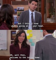 """""""Welcome to the terror dome"""" // 28 April Ludgate Quotes That Perfectly Sum Up Adult Life // Parks and Recreation Parks And Recreation, Parks And Rec Memes, April Ludgate Quotes, Parcs And Rec, Aubrey Plaza, Tv Quotes, Funny Quotes, Funny Memes, Morning Humor"""