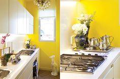 Ideas para decorar una cocina de pocos metros  Para los que se animan, el amarillo es un color lleno de energía. En cocinas con buena entrada de luz natural genera una sensación de amplitud visual.         Foto:Archivo LIVING
