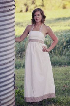 Hadley's Women's Halter Top, Dress, and Maxi PDF Pattern | Sewing Pattern | YouCanMakeThis.com