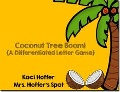 FREE Differentiated Letter game great for the beginning of the year. Works great with Chicka Chicka Boom Boom!