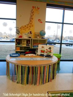 Awesome teacher table! Visit Schoolgirl Style for hundreds of classroom photos!
