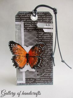 Kartka tagowa z motylem - Gallery of handicrafts