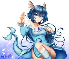 CM - Don't pick on me by Wanini.deviantart.com on @DeviantArt  - More Fanart at https://pinterest.com/supergirlsart/ #commission #pokemon #vaporeon #pokemongijinka #vaporeongijinka #anime #manga #girl #female #gijinka #pokemon