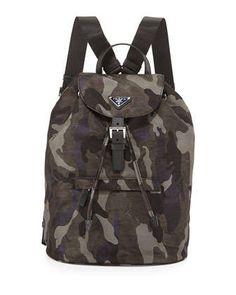 Prada Tessuto Camouflage Backpack 870a7bf7dde28