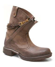 Brown Ponder Ankle Boot by Two Lips #zulily #zulilyfinds $29.99 was $76.00