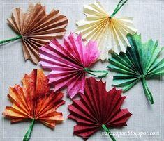 Varázspor: Falevél-dekoráció papírból Autumn Crafts, Coasters, Children, Crafts For Children, Autumn, Flowers, Birthday, Young Children, Boys