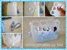 Tutorial DIY Fare un cestino con le taniche dell'acqua - Riciclo Creativo