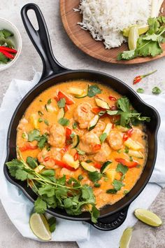 Quick Thai Shrimp Curry with Pineapple Vegetables and shrimp are cooked with a delicious coconut curry sauce, then served with fresh pineapple! One of my all-time favorite meals to eat will always …