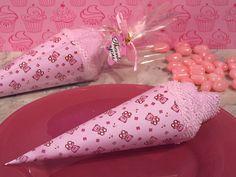Ice cream towel favor pink teddy bear design