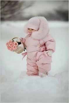 La niña en la nieve.