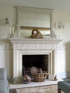 Beautiful hardwood / wood mantlepiece, shelf, shelving with iron ...