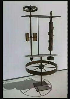 205. Ettore Colla, officina solare 1964 m 2,20x0,80 ferro Roma Galleria Nazionale d'arte Moderna
