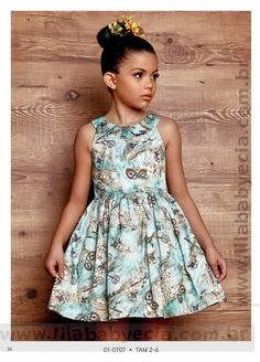 Vestido Infantil Diforini Moda Infanto Juvenil 010707                                                                                                                                                                                 Mais