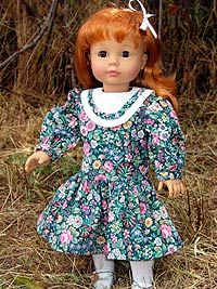 Free Drop waist dress pattern for American Girl type dolls