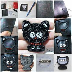 DIY Beaded Kitten Brooch | iCreativeIdeas.com Like Us on Facebook ==> https://www.facebook.com/icreativeideas