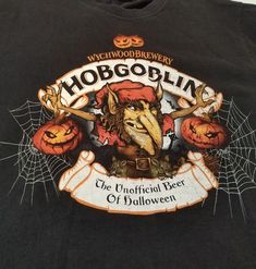 Details about HOBGOBLIN Wychwood Brewery beer HALLOWEEN t-shirt Large f3d8fef30