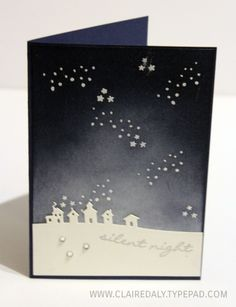 Stampin Up, Sleigh Ride Edgelits, Jingle All the Way, spongeing, Claire Daly, Australia, Art With Heart team, 2015, Retiring, Holiday Catalogue