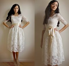 Ellie2+Piece+Lace+and+Cotton+Wedding+Dress+von+Leanimal+auf+Etsy,+$795,00