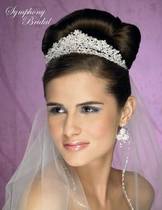 Gorgeous headpiece for the bride! Symphony Bridal Tiara Crown 4903CR