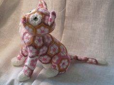 African Flower Cat Luna crochet pattern by Jo's Crocheteria #crochet… More