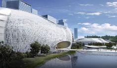 amphibianArc forms organic yichang new district masterplan