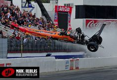 I have been shooting NHRA drag races for over 22 years (since I was 10 years old!) and thought I had seen and shot it all. With all the wild rides I have seen over the years, nothing really surpris… Nhra Drag Racing, Nascar Racing, Auto Racing, Top Fuel Dragster, Drag Bike, Racing News, Vintage Race Car, Car Crash, Drag Cars