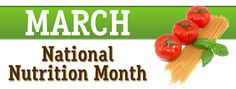 March is National Nutrition Month! The Academy of Nutrition and Dietetics celebrates national nutrition month every March to teach b. National Nutrition Month, March Month, Registered Dietitian, Weight Loss Surgery, Physical Therapy, Fitness Tips, Wellness, Blog, Fitness Hacks