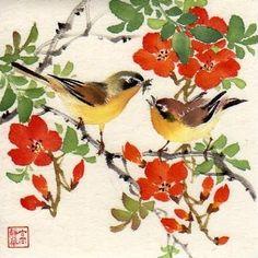 Jinghua Gao Dalia - Brush Magic: Bird's Delight (copyrighted) 2010