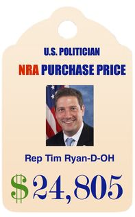 """Past """"A"""" Grade from NRA; 100% (gun lobby) Lap Dog rating, Brady Campaign, 2013 - 2014. Running for re-election, 2016."""