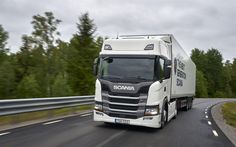 Indir duvar kağıdı Scania G410, 4k, yol, Yarı römork kamyon, kamyon, G serisi, Scania
