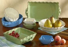 Village Bakeware Ceramic Pottery Collection