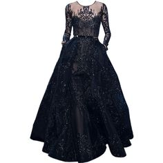 satinee.polyvore.com - Elie Saab Couture ❤ liked on Polyvore featuring dresses, gowns, long dresses, blue evening gown, long blue dress, couture ball gowns and elie saab dresses