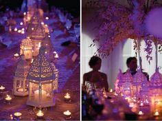 Lindas lanternas compondo a decoração da festa.
