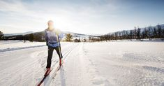 Up, down, all around. During winter, you will find groomed trails for cross-country skiing crisscrossing the entire country.