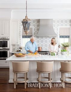 Classic kitchen with backsplash detail | Most Pinteresting Thing of the Week | Bria Hammel Interiors