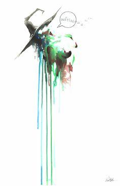 Melting Witch by lora-zombie.deviantart.com