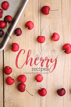 Cherry Recipes createdbydiane.com Cherry Margarita, Cherry Drink, Cherry Scones, Cherry Muffins, Italian Cream Soda, Cherry Syrup, Cherry Recipes, Baking Muffins, Fresh Fruit