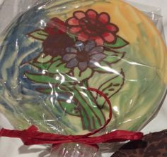 Lovely floral chocolate plaque