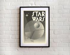 STAR WARS Film Poster Art Deco Modern Art Print by TimothyKolstad, $30.00