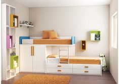 Loft bed sister room decoration - new site Bunk Beds With Storage, Kids Bunk Beds, Bedroom Storage, Sister Room, Modern Bunk Beds, Childrens Beds, Loft Spaces, Room Decor, Furniture