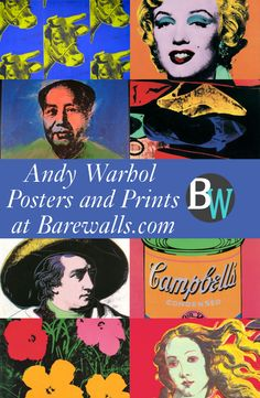Andy Warhol Posters and Prints Available at Barewalls.com