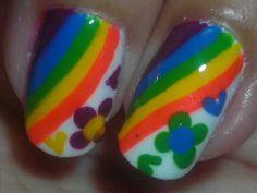 Nail Art , Hippie Party , Diseño de Uñas