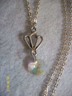 Crystal Heart Necklace by DysfunctionalAries on Etsy, $22.00