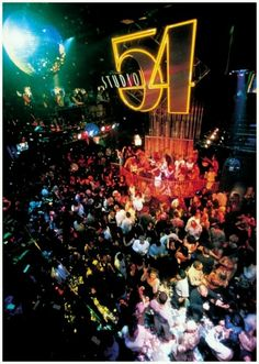 Studio 54, NYC - Only open 33 months for hard partying during the 70s & early 80s superseventies disco glam celebrities