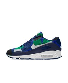 Cheap Nike Air Max 90 Em Id Blue Green White Black Nike Air Max Trainers 884330170