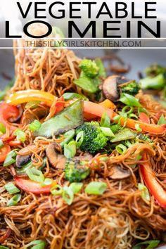 Vegetable Lo Mein is a classic take out dish that can easily be made at home! from thissillygirlskit. Vegetable Lo Mein - This Silly Girl's Kitchen Charlene Dume cdume GUMBO Vegetable Lo Mein is a classic take out dis Chinese Vegetables, Mixed Vegetables, Veggies, Green Tomato Recipes, Vegetable Recipes, Vegetarian Lo Mein, Instant Pot, Vegetable Lo Mein, Spaghetti