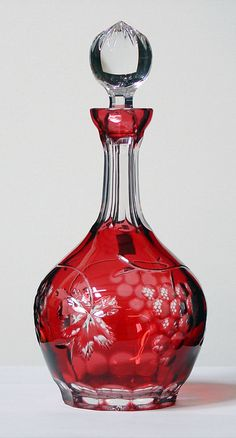 Caesar Crystal - Grapes Decanter - Ruby