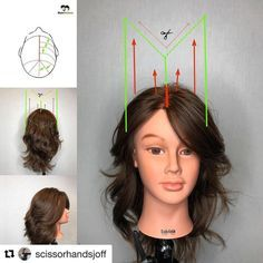 """61 Likes, 3 Comments - Hairchitect By Joffre Jara (@hairchitectapp) on Instagram: """"#Repost @scissorhandsjoff ・・・ This is how I understand haircuts. By doing diagrams.. using …"""""""