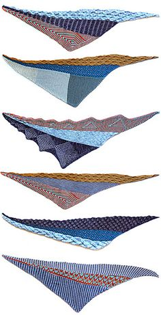 Mix & match the triangle shawl sections with each other!!